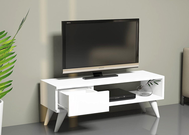 MAYA Mobile TV - Bianco - Porta TV Lowboard - Set Soggiorno in un ...