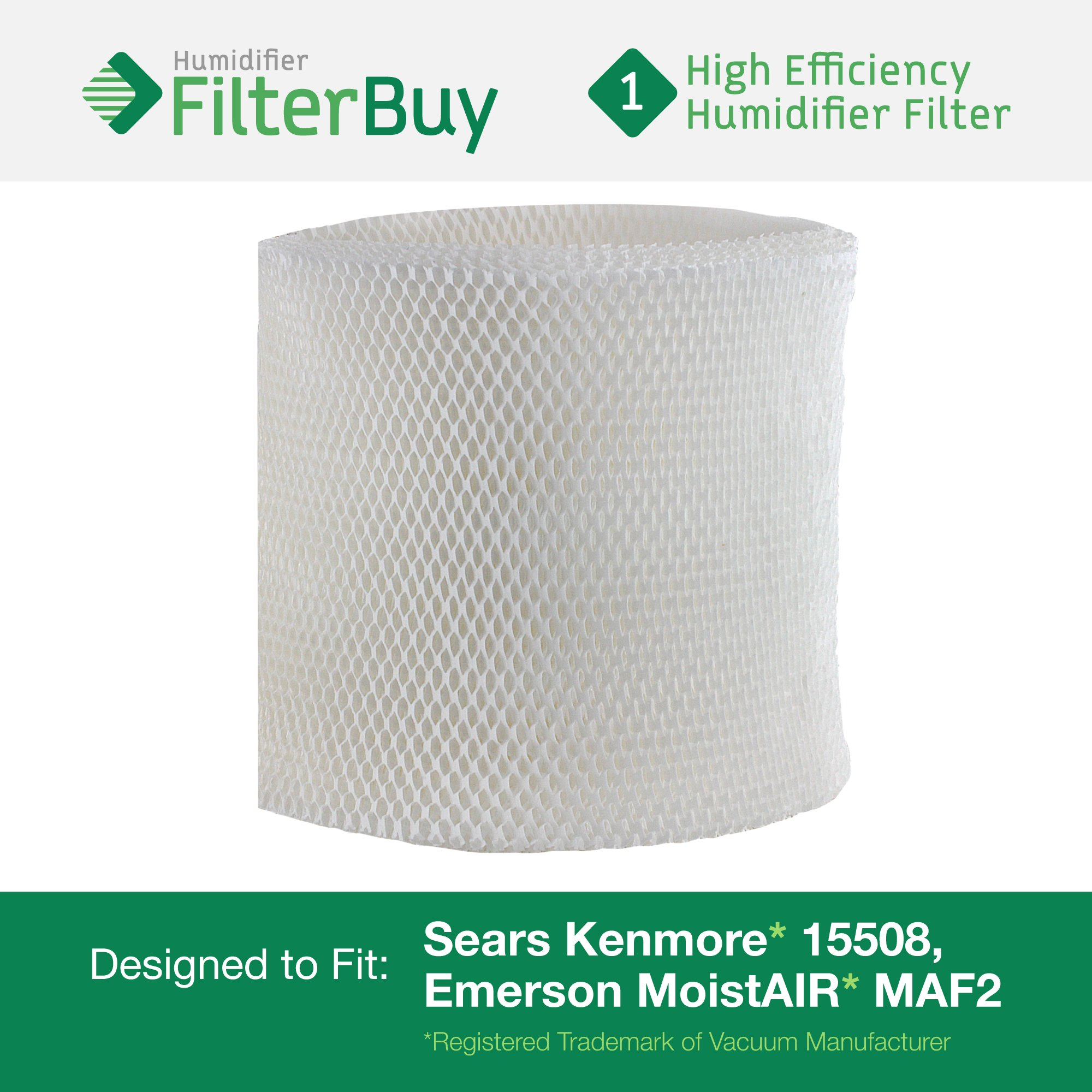 15508 Sears Kenmore Humidifier Wick Filter. Fits humidifier model numbers 17006, 15408, 29988, 154080, 29706, 299880C, 3215508 and 4215508. Designed by AFB in the USA.