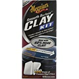 Meguiar`s ME G1016 Smooth Surface Clay Kit, 2 x 80 g /473 ml Quik Détailler/ 1 Linge