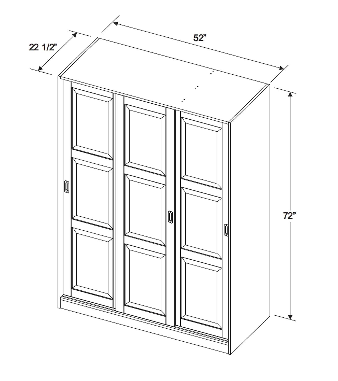 Amazon.com: 56700 clóset de 3 cuerpos con puerta ...