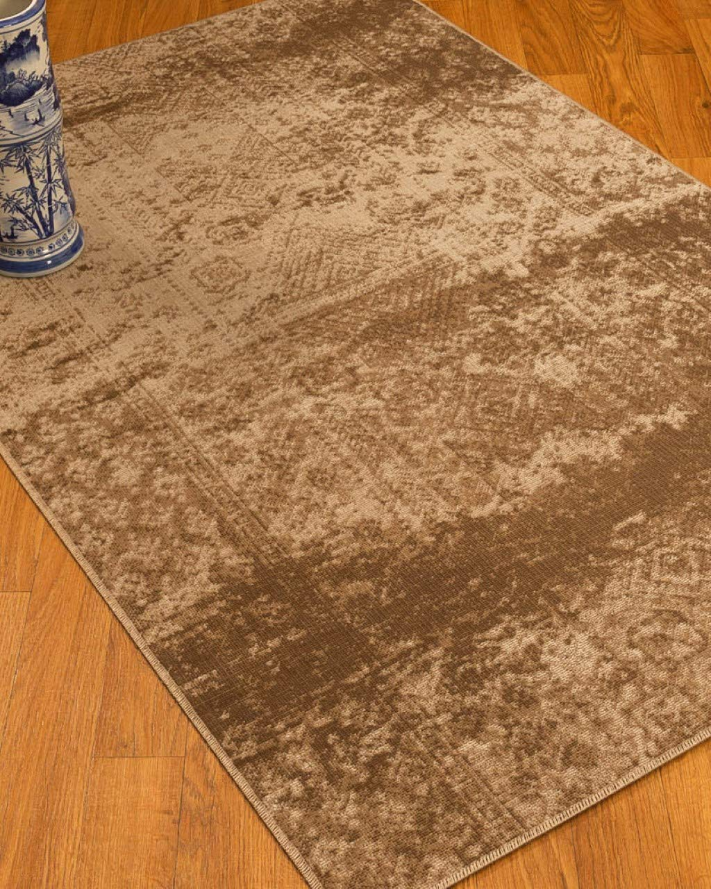 Natural Area Rugs Vintage Oriental Ibiza Polypropylene Rug 8 x 10 Brown