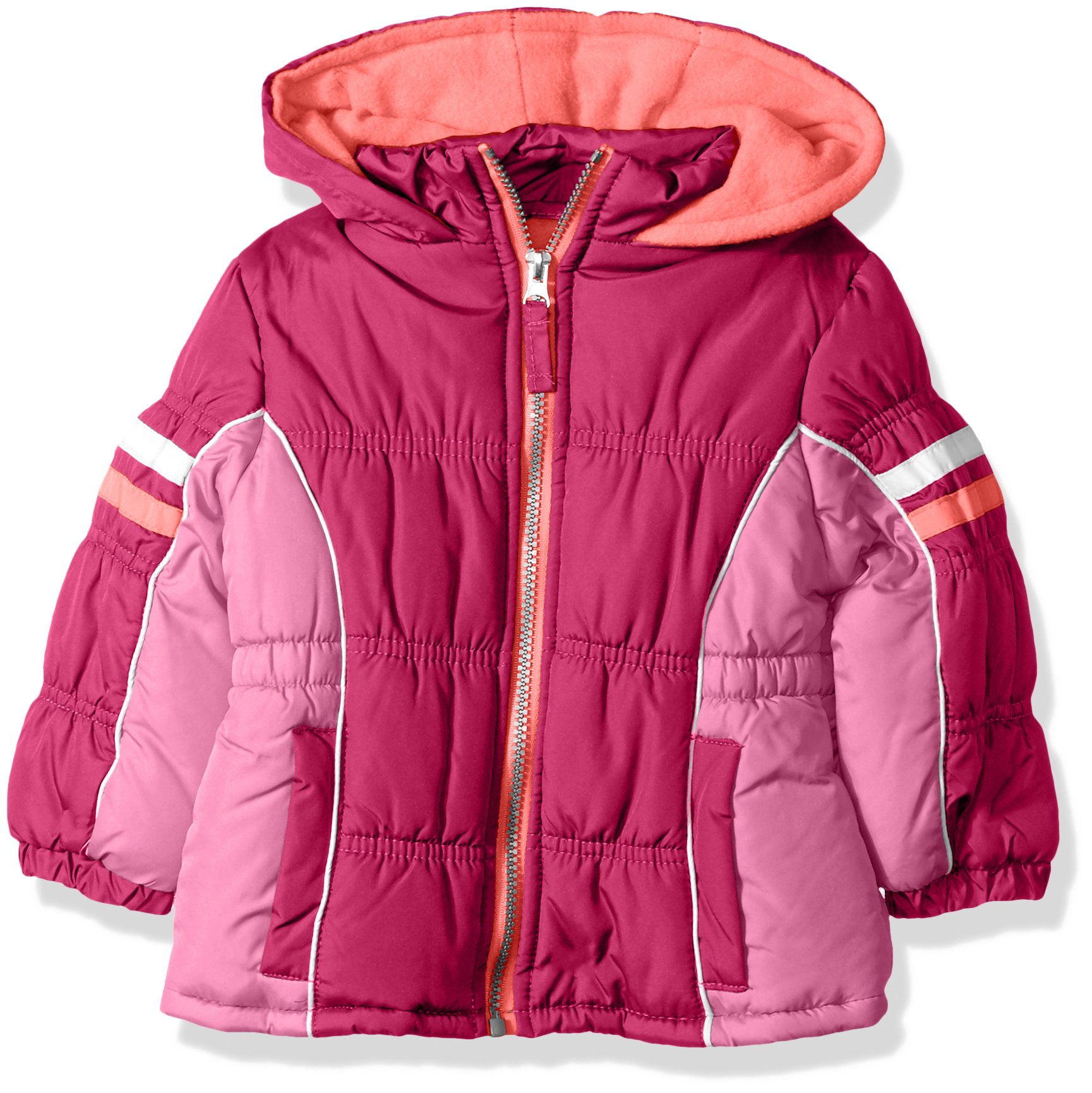 ac8e5482899 Galleon - Pink Platinum Baby Girls Cb Active Puffer, Berry, 24M