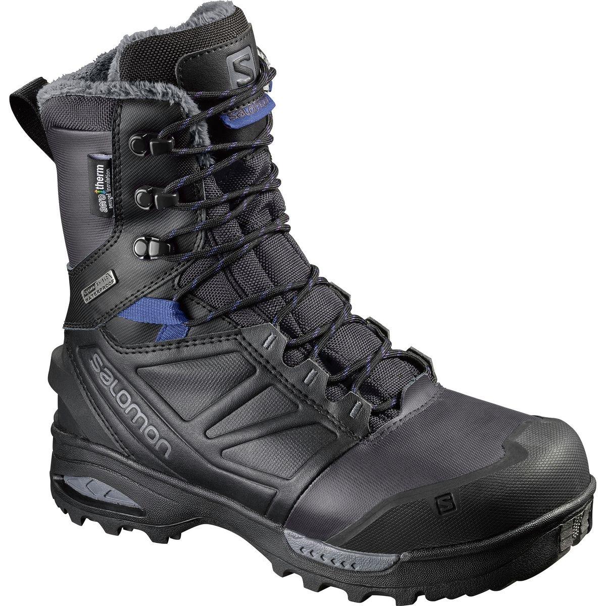 Salomon Women's Toundra Pro CSWP W Snow Boot, Phantom/Black/Amparo Blue, 9 M US by Salomon