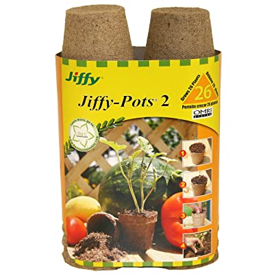 Jiffy 100055665 033349412142 Ferry Morse 5214 26-Count 2-1/4-Inch Pots, Brown: Garden & Outdoor
