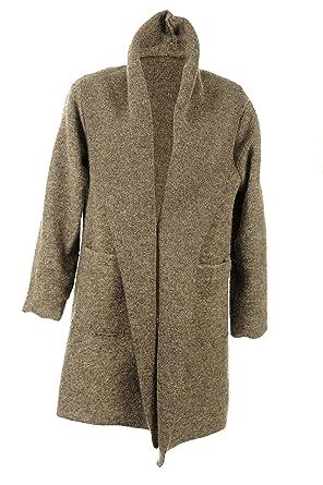 Jay-Fashionbox Damen Jacke Übergangsjacke Trenchcoat Herbst Mantel aus Wolle  mit XXL Kapuze Kurzmantel Wollmantel gelb rot grau grün  Amazon.de   Bekleidung fc34d6978a