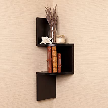 Amazon Com Btexpert Brown Finish Corner Zig Zag Wallmount Wall