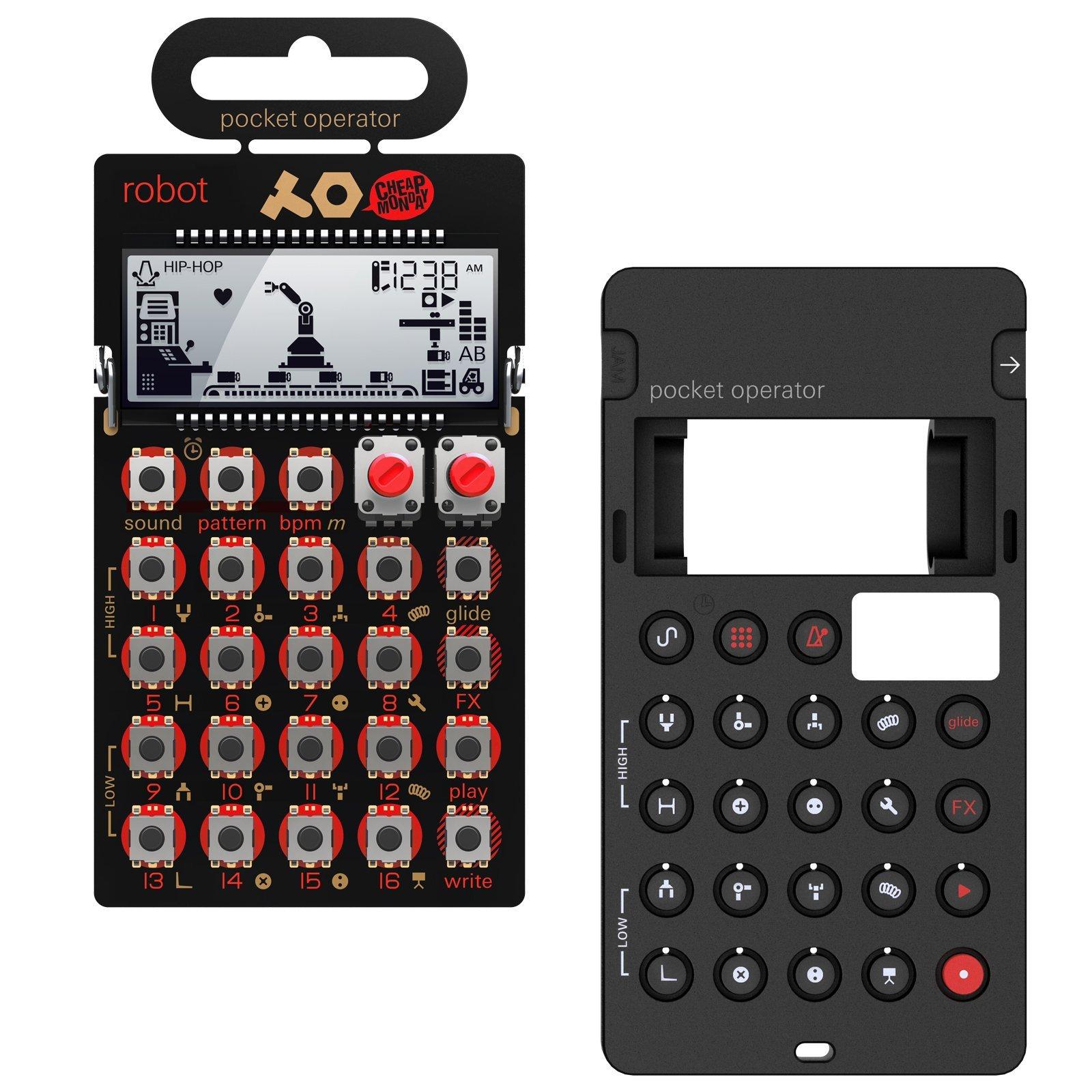 Teenage Engineering: PO-28 Robot Pocket Operator + Silicone Case Bundle