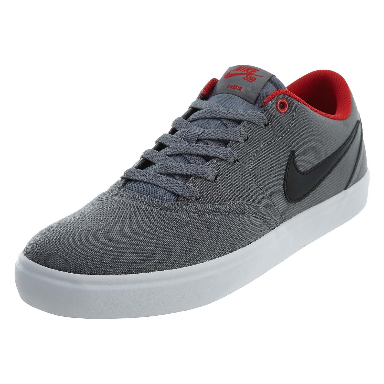 NIKE Men's SB Check Solar CNVS Skate Shoe B06WRPMSG8 6 D(M) US|Grey Black University Red Wht