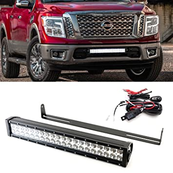 Ijdmtoy 20 120w high power led light bar w lower bumper grill ijdmtoy 20quot 120w high power led light bar w lower bumper grill mounting bracket aloadofball Image collections