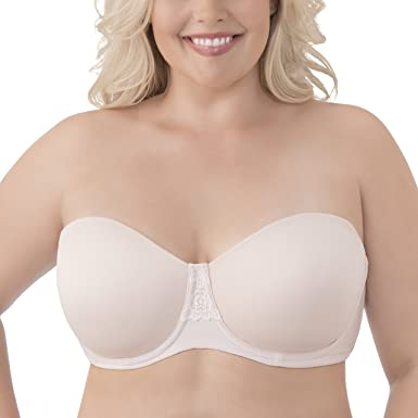 Vanity Fair Women's Beauty Back Strapless Full Figure Underwire Bra 74380 Bra, Sheer Quartz, 40DD