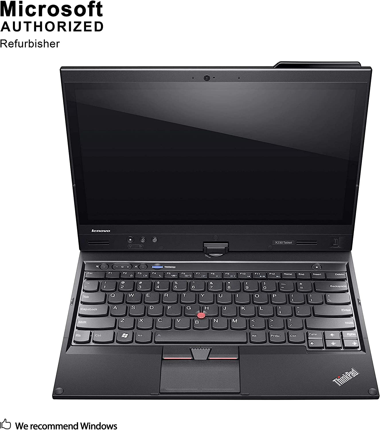 Lenovo ThinkPad X230t 12.5 Inch Convertible Laptop, Intel Core i5 3320M up to 3.3GHz, 8G DDR3, 128G SSD, WiFi, VGA, mDP, Windows 10 64 Bit Multi-Language Supports English/French/Spanish(Renewed)
