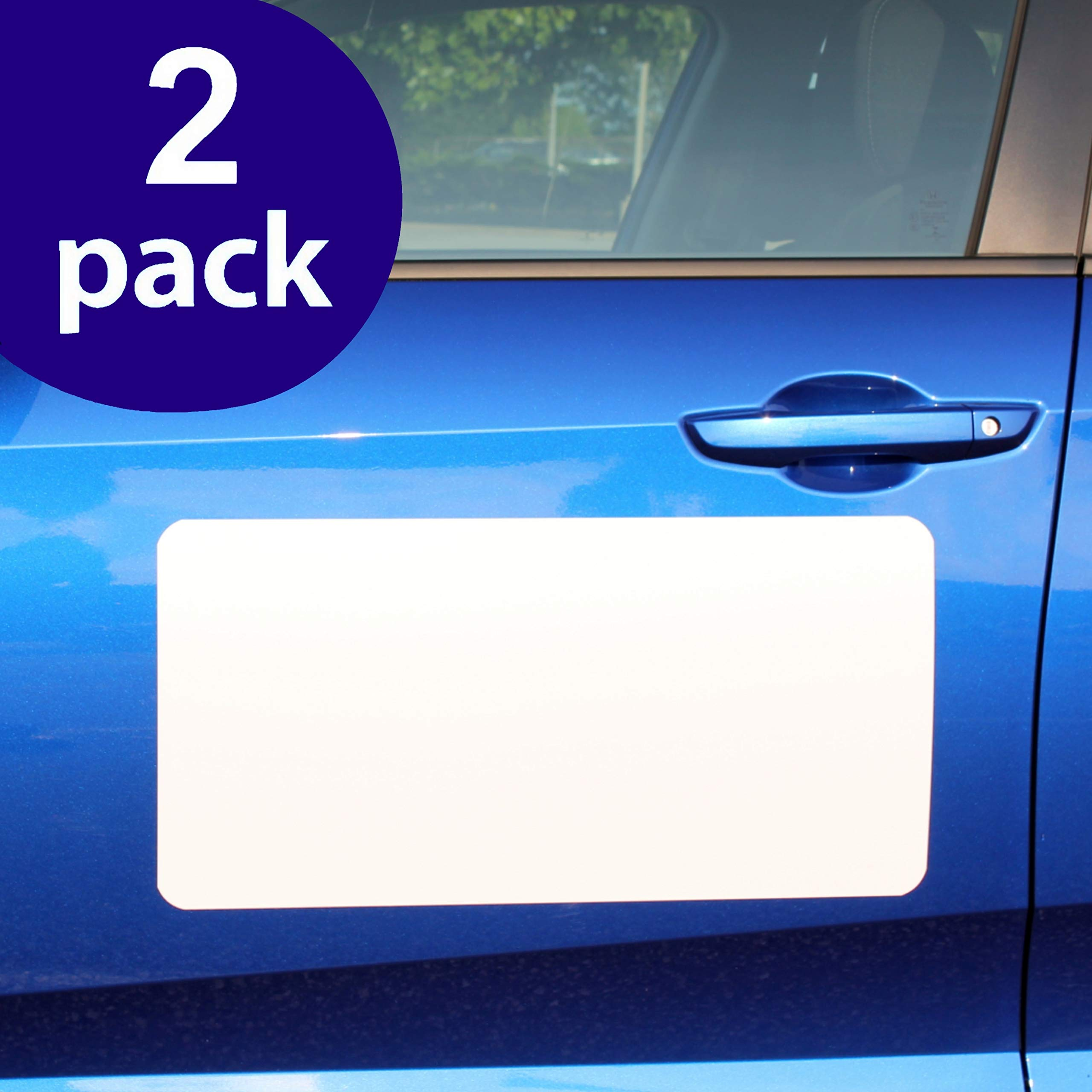Blank Magnets (2 Pack) - Rounded Corners 12'' x 24'' Blank Car Magnet Set - Perfect Magnet for Car to Advertise Business, Cover Company Logo (for HOA), and Prevent Car Scratches & Dents - New! by SignHero