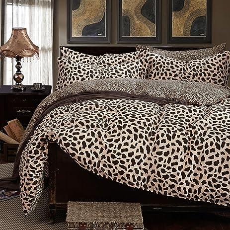 Marvelous 100% Cotton Leopard Print Bedding Set Sexy Leopard Bedding Sets Leopard  Duvet Cover Set With