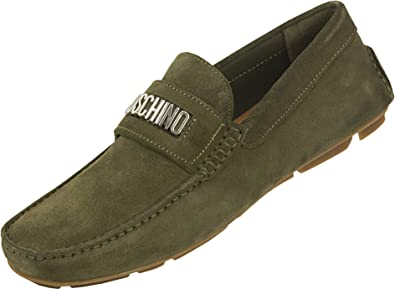 Moschino Inverted Suede Loafers