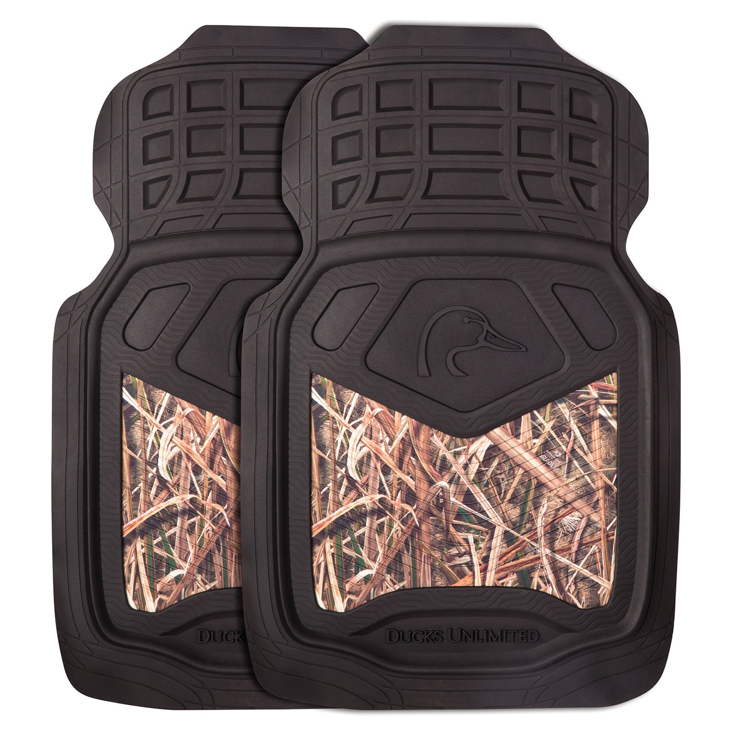 Ducks Unlimited Camo Floor Mats | Front | DU Shadow Grass Blades | 2 Pack Signature Products Group