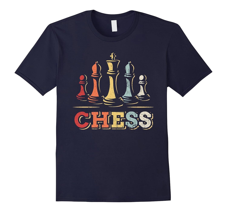 Mens Vintage Chess T shirt Heather-Tovacu