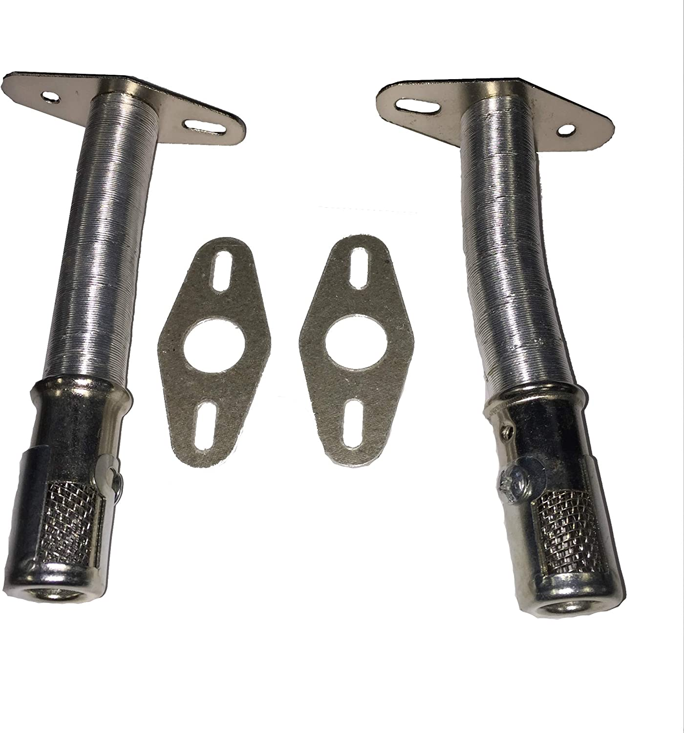 2-Pack Universal Stainless Steel Extendable Venturi Tube Set Used for Gas Grills That Require an H-Burner
