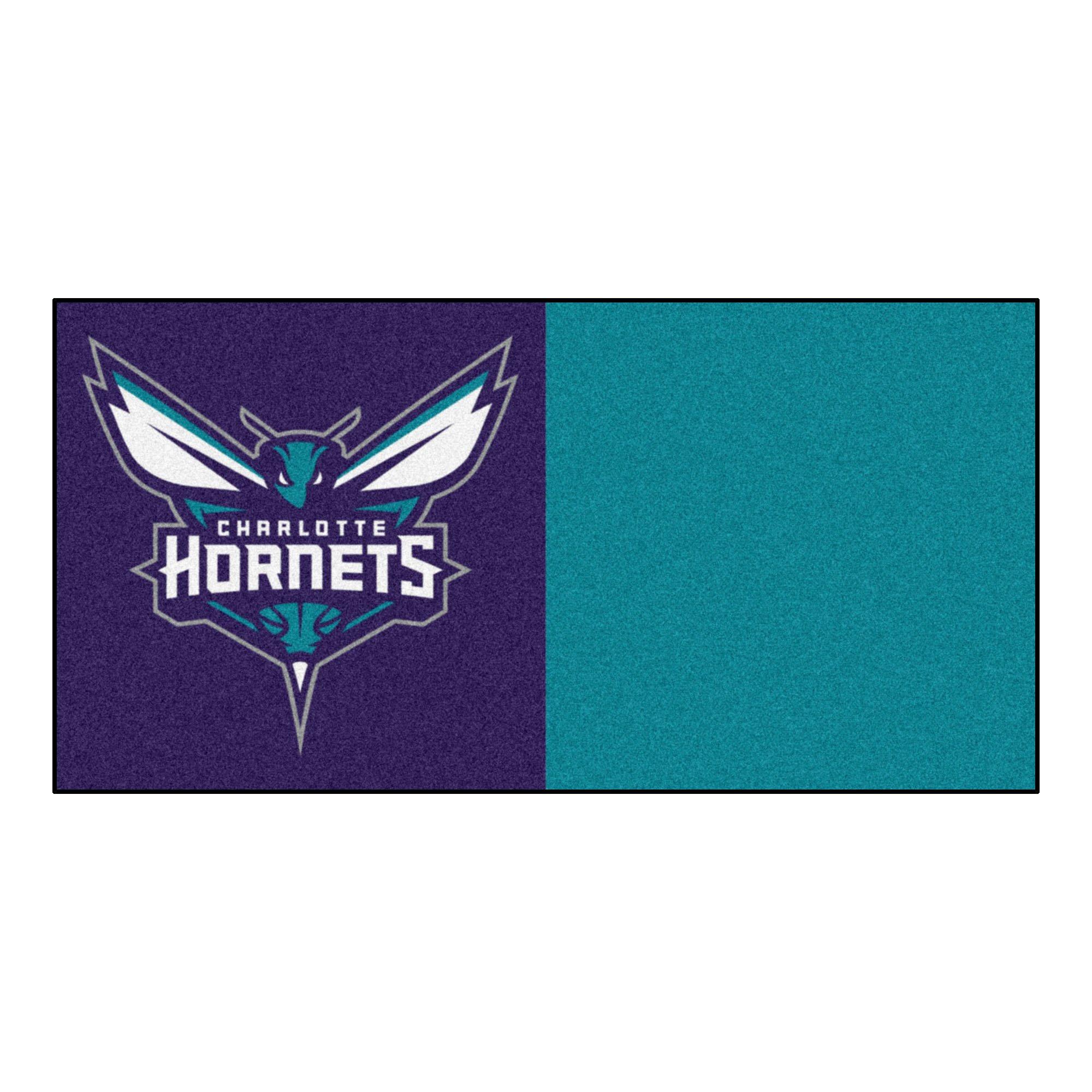 FANMATS NBA Charlotte Hornets Nylon Face Team Carpet Tiles by Fanmats