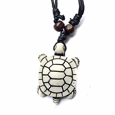 Honu turtle pendant necklace tiki good luck charm jewelry honu turtle pendant necklace tiki good luck charm jewelry adjustable cord box turtle aloadofball Choice Image