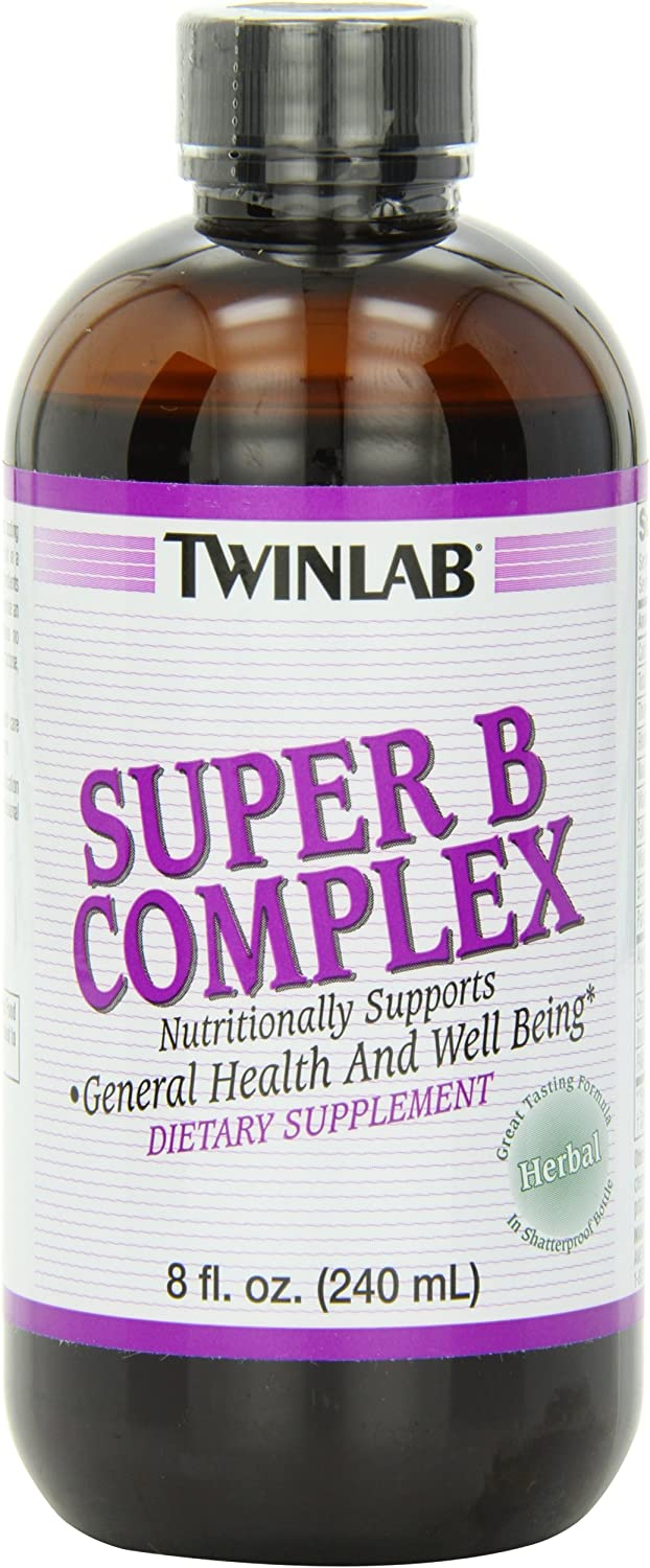 Twinlab Super B-Complex, Herbal, 8 Ounce 240 ml