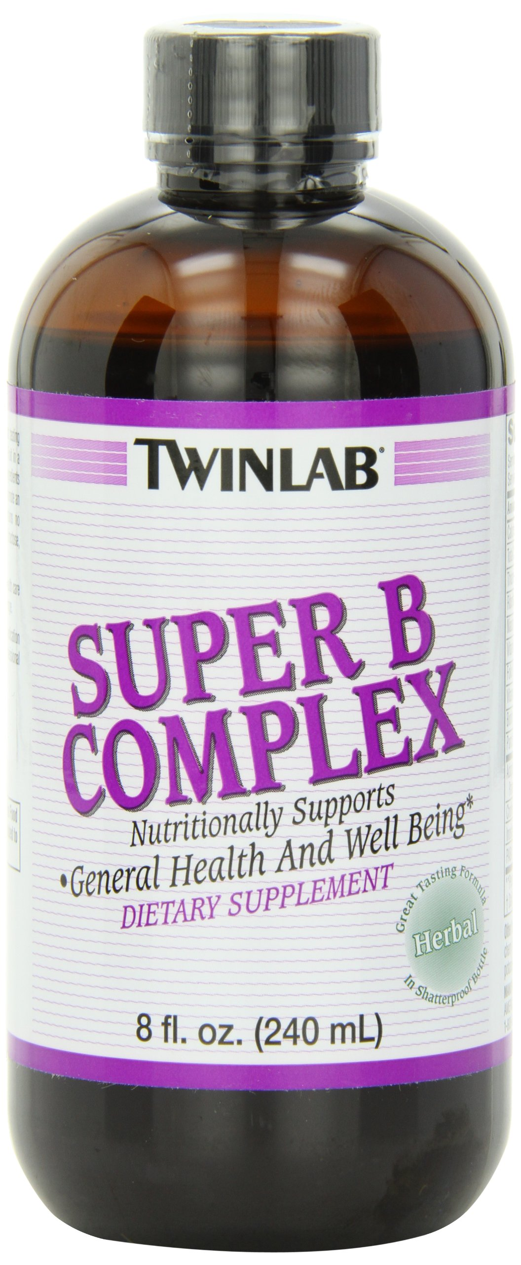 Twinlab Super B-Complex, Herbal, 8 Ounce (240 ml)