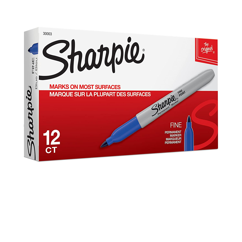 blue sharpie markers