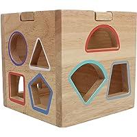 Hamleys Wooden Shape Sorter Toy (Brown)