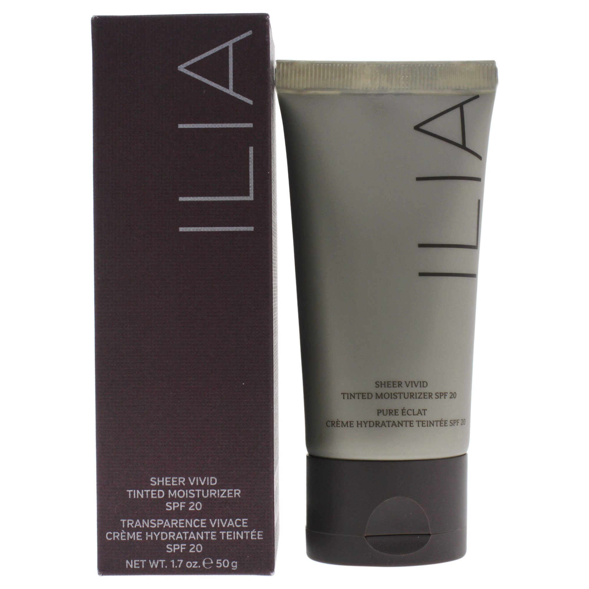 ILIA Beauty Sheer Vivid Tinted Moisturizer Spf 20 Los Roques T1 for Women, 1.7 Ounce