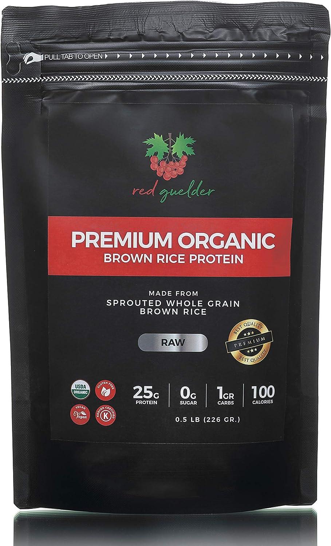 Organic Brown Rice Protein Powder - Vegan Raw Plant-Based Rice Powder - USDA Organic, Kosher, Gluten Free, Soy Free, GMO Free, Non Dairy, No Artificial Ingredients, 0.5 lb, 9 Servings