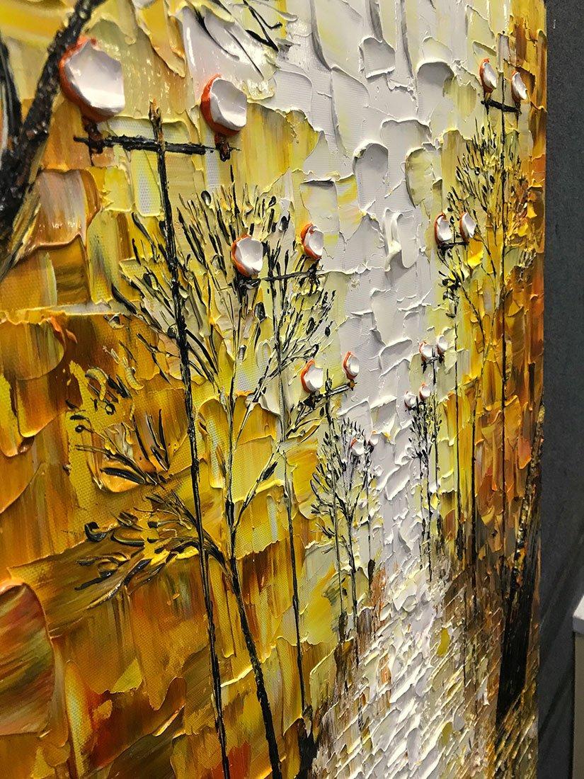 Amazon.com: Asdam Art-Large Abstract Artwork Romatic Night Street ...