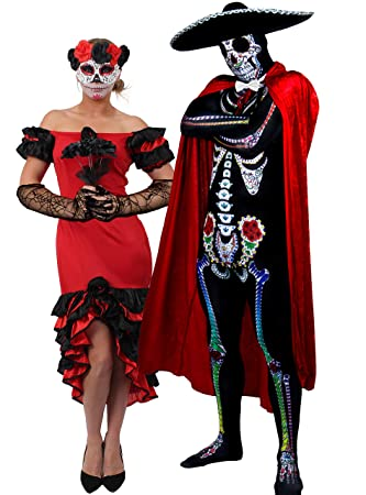 Halloween Couples Costumes Day Of The Dead Sugar Skull Skeleton