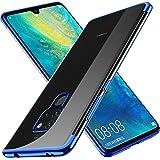 KuGi Huawei Mate 20 Hülle, Kratzfeste Hülle Huawei Mate 20 Schutzhülle Soft TPU Case Ultradünn Cover [Slim-Fit] [Anti-Scratch] [Shock Absorption] für Huawei Mate 20 Smartphone. Blau