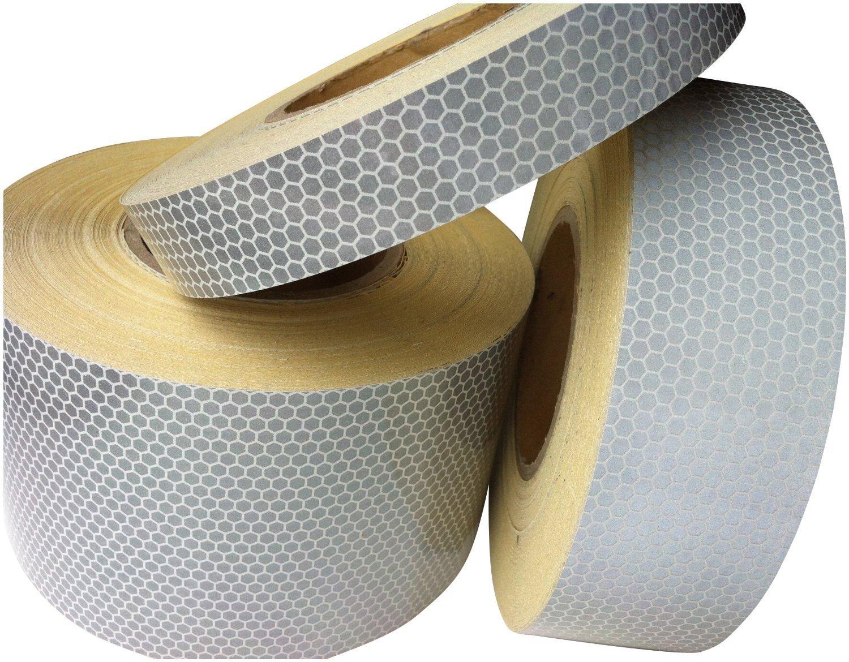 Tuqiang® Hoch Intensives weiß Reflektierendes Klebeband 25mm x 2.5m 1PC TQ-32043