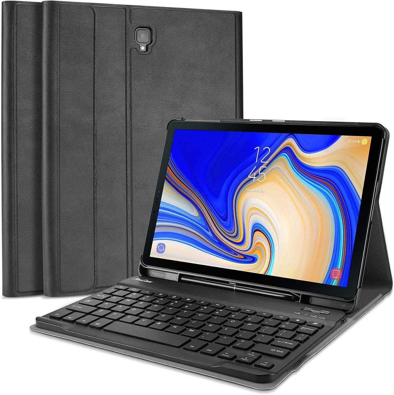 Funda teclado, Galaxy Tab S4 10.5(SM-T830 T835 T837) -Negro