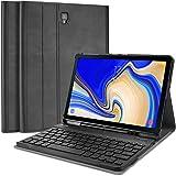 ProCase Galaxy Tab S4 10.5 キーボード ケース スリム 軽量 スマート カバー 磁気 無線 キーボード 取り外し可 Samsung Galaxy Tab S4 10.5-インチ(SM-T830 T835 T837)に対応 -ブラック