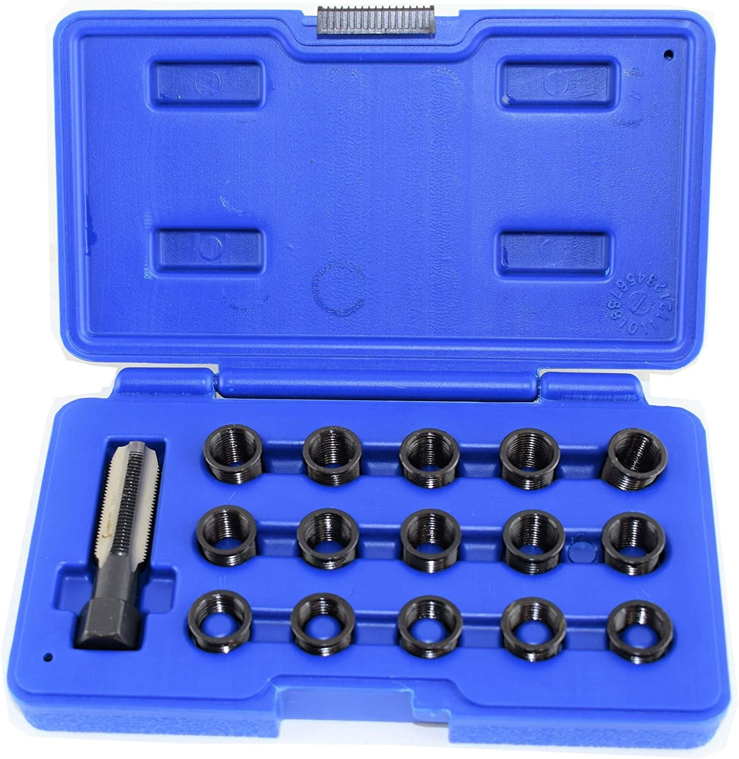 Cloud Rising 16pc Spark Plug Thread Repair Kit for 14mm x 1.25 M16 Rethreading Kit with Carry Case
