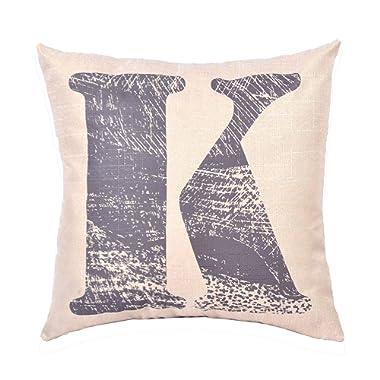 EvZ Homie Pillow Covers Letter Decorative Throw Pillow Case Home Decor Design Gift Square, 18 X 18 inch, Graffiti Paint, K