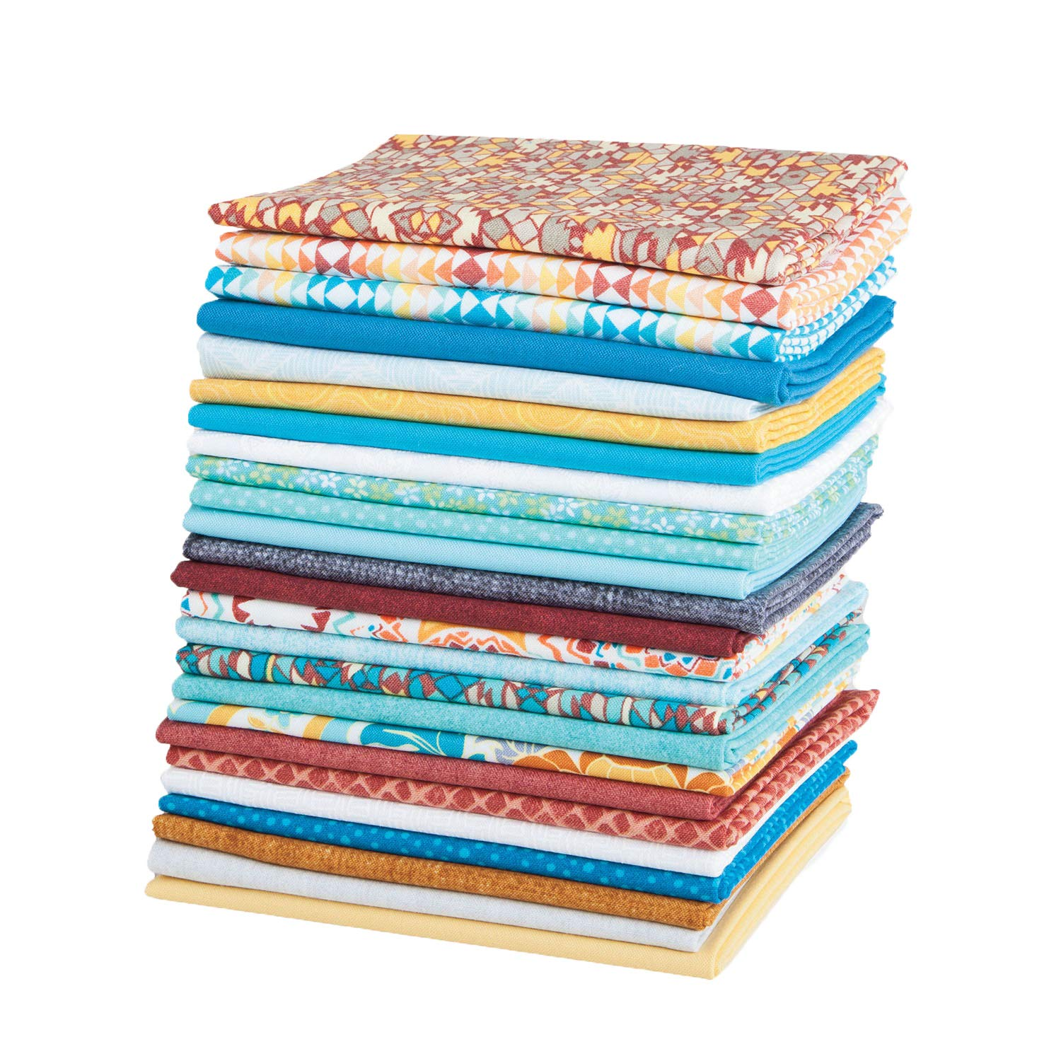 Connecting Threads Stashbuilder Precut Quilting Fabric Fat Quarter Bundle (Scattered Posies)