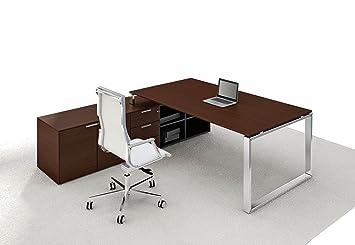 Schreibtisch Mit Sideboard Loopy Echtholzfurnier Chef Schreibtisch
