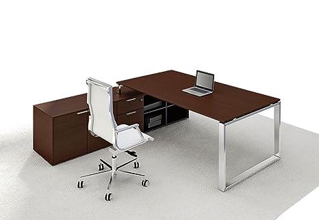 Scrivania Ufficio Dirigenziale : Scrivania con credenza loopy vero legno impiallacciato scrivania