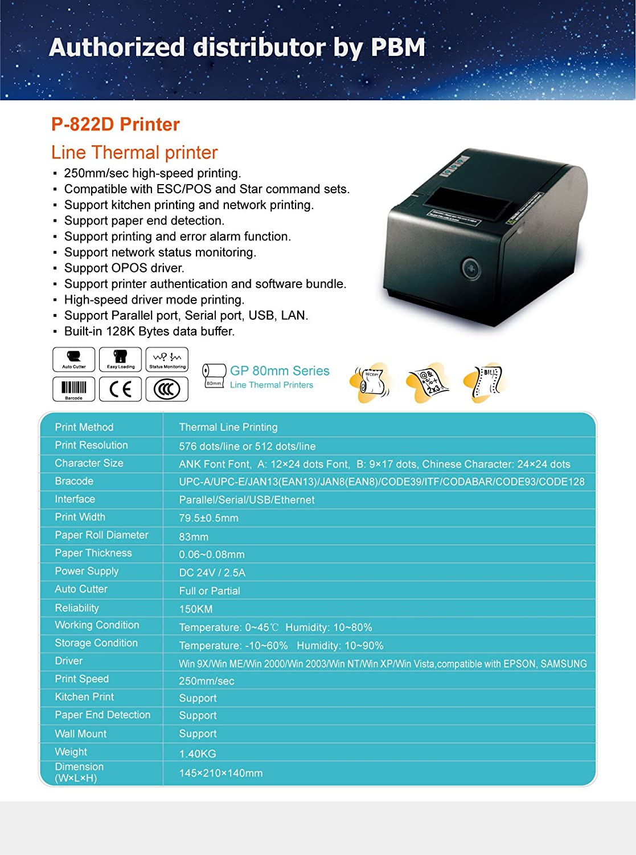 PBM POS P-822D 3 1/8