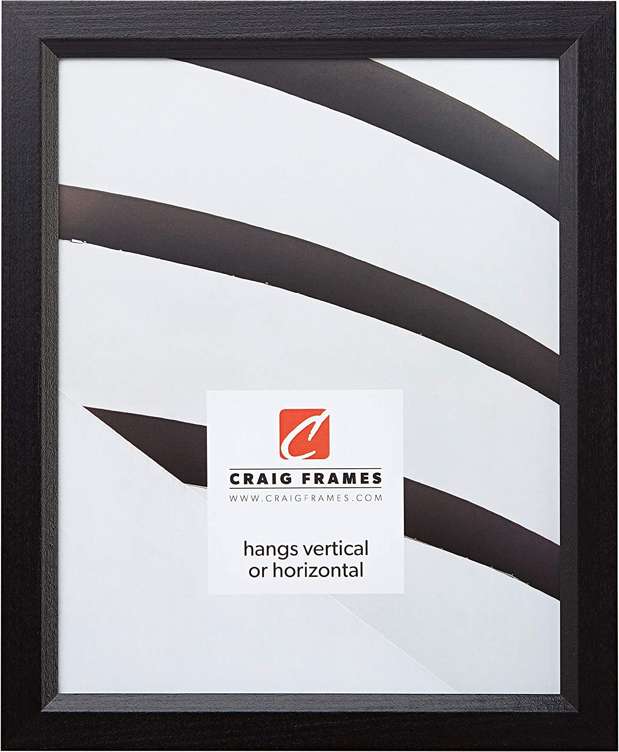 Craig Frames 7171610BK 8.5 by 11-Inch Picture Frame, Solid Wood, .825-Inch Wide, Black