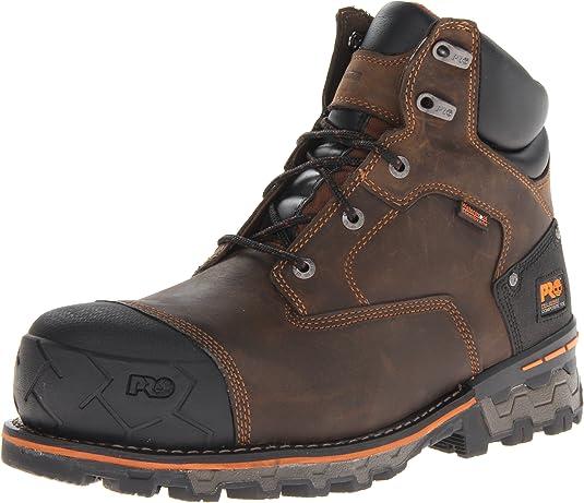 """timberland pro men's boondock 6"""" waterproof work boots"""