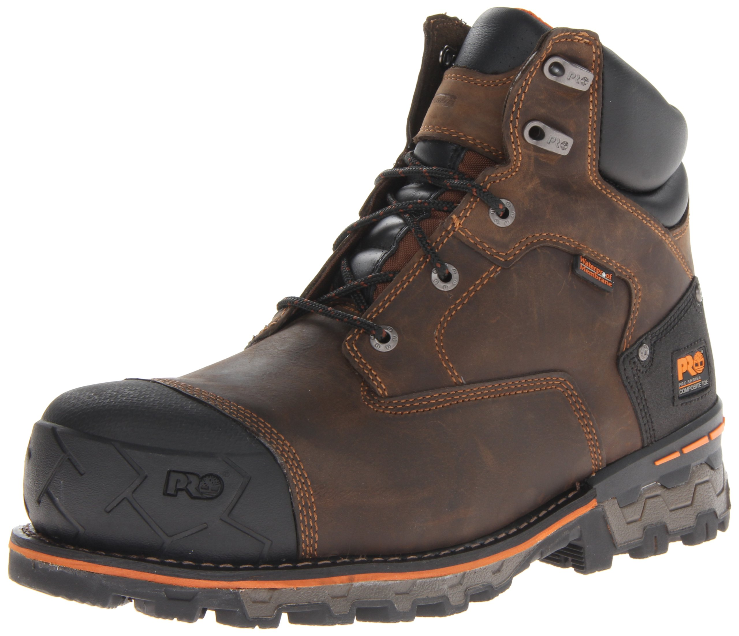 Timberland PRO Men's Boondock 6 Inch Waterproof Non-Insulated Work Boot,Brown Oiled Distressed,11 M US