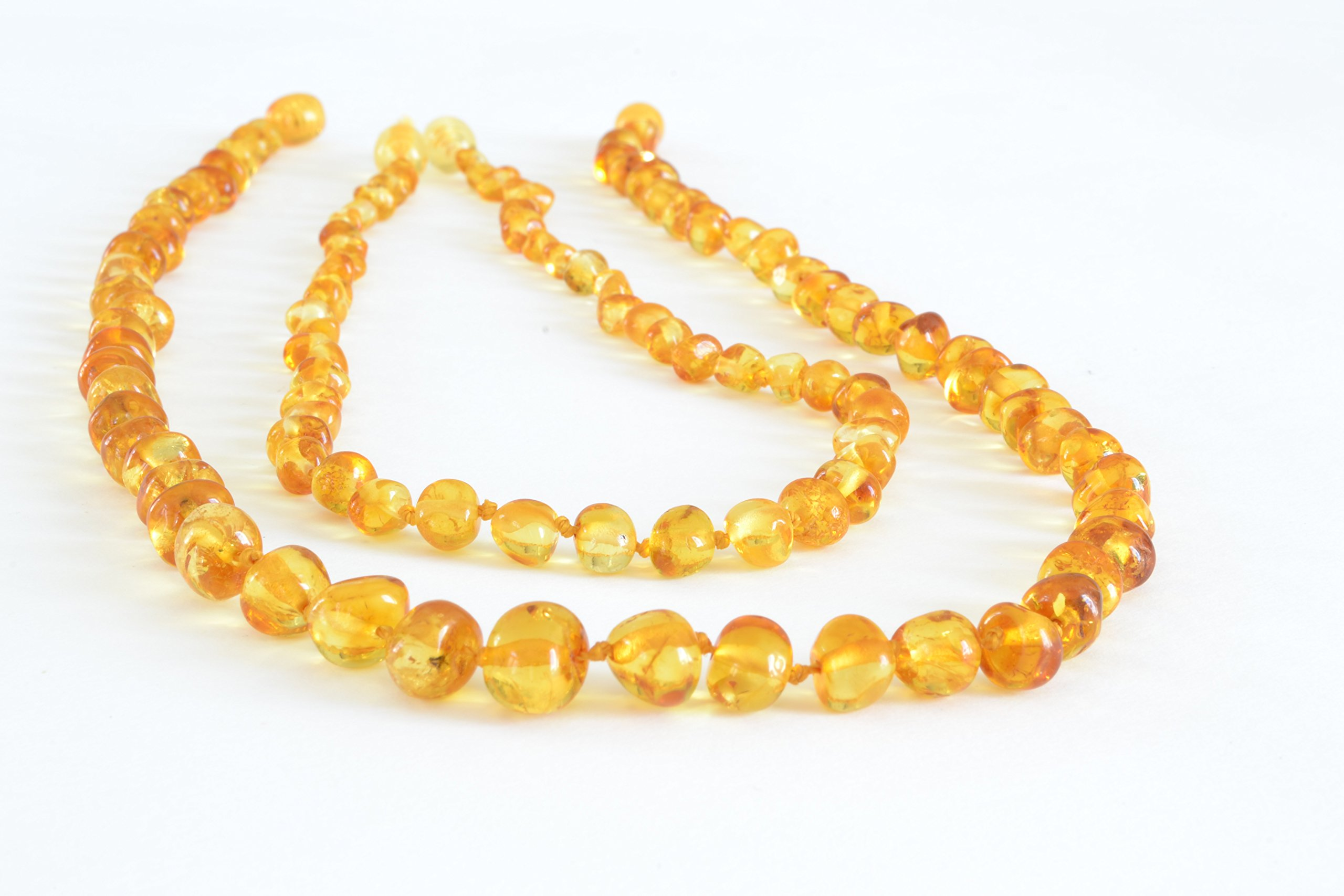 Certified Baltic Amber Teething Mom & Baby set - lemon - Anti Flammatory