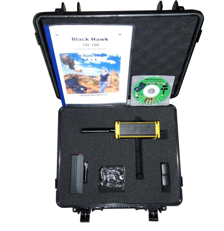 Amazon.com : gold detector Black Hawk GR-100 Long Range King Detector gold Gem Gold Metal detector underground gold detector diamond long range gold locator ...