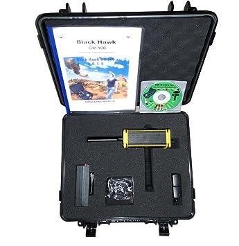 Detector de oro negro Hawk GR-100 detector de largo alcance Rey oro Gem oro detector de metales subterráneo Gold detector de diamante largo alcance oro ...