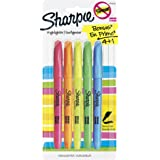 Sharpie ACCENT Highlighter, Pocket Highlighter Narrow Chisel, 4-Carded, Fluorescent Assorted (27174/27174PP)