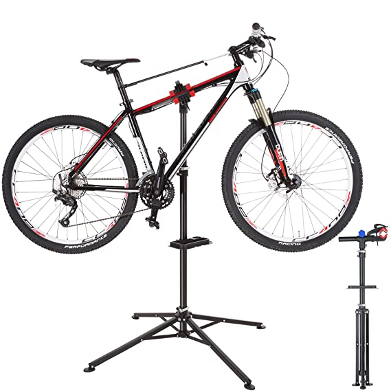 TecTake 800581 Soporte para Reparación de Bicicletas, Gran Capacidad de Carga, Bandeja para Herramientas, varios modelos- (Tipo 3 | no.