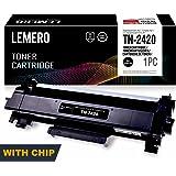 LEMERO Compatible Brother TN-2420 TN2420 TN2410 [con Chip] Cartucho de Toner para HL-L2310D HL-L2350DN HL-L2370DN HL-L2375DW MFC-L2710DN MFC-L2710DW MFC-L2730DW MFC-L2750DW DCP-L2510D DCP-L2530DW